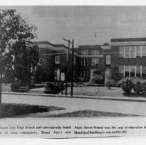 Image of Old Mount Airy High School - The old Mount Airy High School and subsequently South Main Street School.  The Municipal Building is now on the site.
