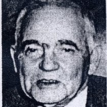 Image of Dr. Fount Tillotson - Dr. Fount Tillotson, well known doctor in Pilot Mountain from 1926 to about 1945.  He moved to Pilot Mountain in 1926, practicing first from an office above the old Smith Drug Store, later from the Blalock Building on Depot Street.  He was frequently paid with such items as chickens and rabbits, and delivered babies for $30.  Picture is from The Pilot/Centennial Section, June 28, 1989.