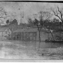 Image of 1916 Flood - Elkin.  Elkin Manufacturing Company during 1916 flood.  Copy from a glass negative.