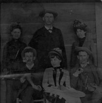 Image of Hugh Chatham and Friends - Elkin.  Tintype of Hugh Chatham and friends, about 1890.  Picture donated by Barbara Chatham.