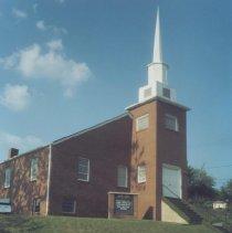 Image of East Elkin Baptist Church - Elkin.  East Elkin Baptist Church, located on Hwy 268 below the mill. Built in the 1950s.