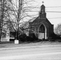 Image of St. Stephen's Catholic Church - Elkin. St. Stephen's Catholic Church, Hawthorne Road,  built during the 1950s.  Picture made in 1989.