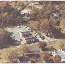 Image of Ariel view of an unidentified location in Elkin c 1973. - Ariel view of area in Elkin c. 1973.