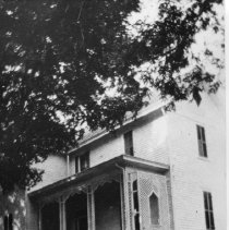 Image of T. L. Gwyn Home - Elkin.  T. L. Gwyn home, ca. 1885, located on the site of the current Presbyterian Church.