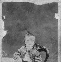 Image of Carrie Elizabeth Gwyn - Elkin.  Picture of Carrie Elizabeth Gwyn as a small child.