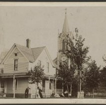 Image of House with Church Steeples