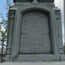 Image of List of battles on south side of monument