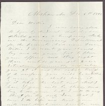Image of Letter to William H. Judkins Dec 6,1861