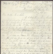 Image of Letter from William Judkins Feb 16,1862 p.1