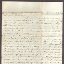 Image of Letter to William H. Judkins July 22,1862 p1