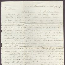 Image of Letter to William H. Judkins Oct 9 1862 p1