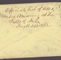 Image of Back of envelope Oct 9 1862