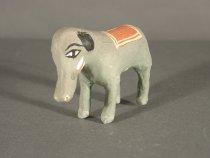 Image of green elephant, figurine, anim