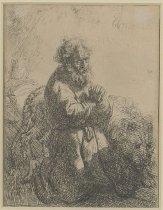 Image of van Rijn, Rembrandt Harmensz - Saint Jerome Kneeling in Prayer, Looking Down