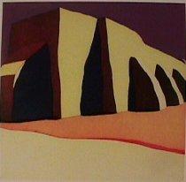 Image of Waldrum, Harold Joe - Las sombras de la iglesia del pueblo de San Ildefonso