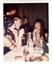 Image of Warhol, Andy - Little Red Book: Loulou Dela Falaise, Andy Warhol, and Marissa Berenson, June, 1972