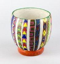 Image of Workshop of Heron Martinez (?) - Multi Colored Painted Bowl
