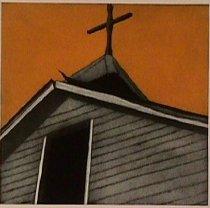Image of Waldrum, Harold Joe - Las sombras y la cruz negra arriba de la capilla de la Sangre de Cristo en Cuartelez