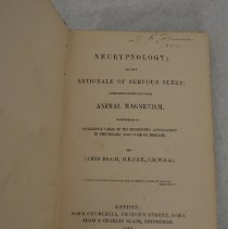 Image of Neurypnology title page with signature