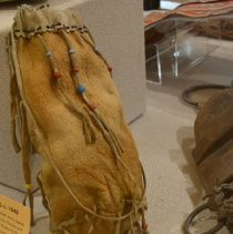 Image of Moosehide Pouch - on display