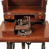 Image of Sewing Machine - open close-up