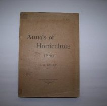 Image of Annals of Horticulture 1889 - Liberty Hyde Bailey