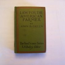 Image of Law For The American Farmer - John B. Green