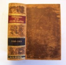 Image of Proceedings of the Grand Chapter 1860 - 1869  -