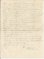 Image of back of letter