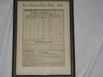 Image of 1995.1.27 - Railroad Timetable