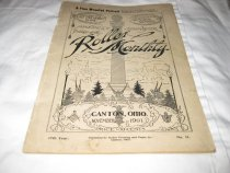 """Image of This magazine is entitled """"The Roller Monthly"""".  It was a souvenir edition for the late President McKinley and a companion to the memorial edition. It was published by the Roller Printing and Paper Co. in Canton, Ohio and measures 6 by 9 inches. - Magazine"""
