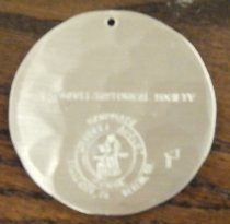 Image of Edwards house Christmas ornament back