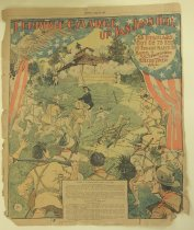 Image of Terrible Charge Up San Juan Hill, July 31, 1898; the newspaper contains six pages. - Newspaper