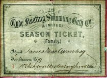 Image of Season ticket for the Clyde Floating Swimming Bath Co.