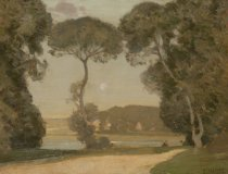 Image of A Pastoral by Alfred East (1844-1913)