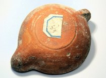 Image of Ancient Roman terracotta oil lamp