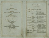 Image of Menu from The Convention of Royal Burghs Annual Dinner 1881