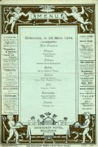 Image of Menu from the Grosvenor Hotel, London 1884.