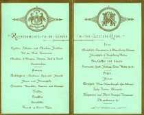 Image of Menu from a Conversazione and Soiree Musicale 1884