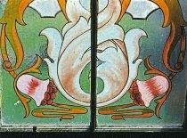 Image of Art Nouveau style glass window in Greenock