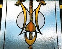 Image of Art Nouveau style glass window from Greenock