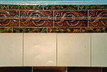 Image of Art Nouveau style ceramic tile at Kirn