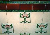 Image of Art Nouveau style ceramic tiles at Paisley