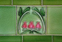 Image of Art Nouveau style ceramic tiles in Greenock
