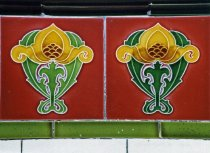Image of Art Nouveau style ceramic tiles in Greenock