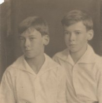 Image of Young John and Colin Farquhar - undated
