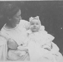 Image of Marion Jones Farquhar and baby John P. Farquhar - undated