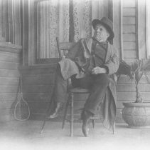 Image of Sam Jones on the Porch at Miramar - undated