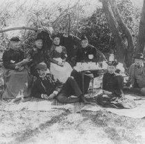 Image of Sam Jones and Family at Picnic - undated