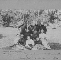 Image of Group Portrait Including Georgina, Marion and Alice Jones and Cornelia Hamilton - undated